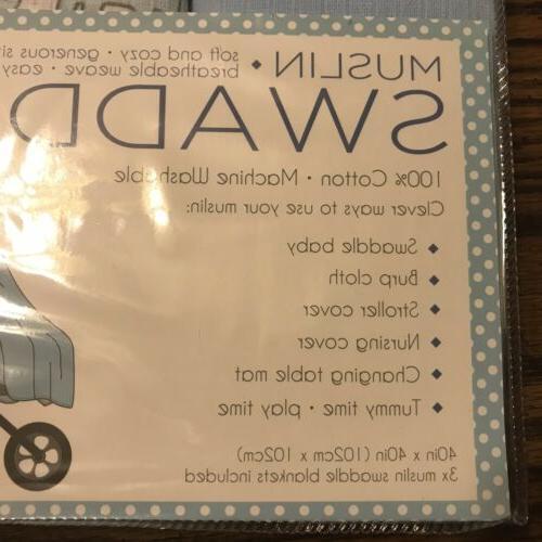 Lollypop NEW Swaddle BABY GIFT Elephants Chevron
