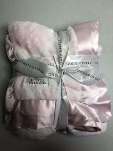 NEW! $90 -Little Giraffe 'LUXE Giraffe Blanket Pink, SOFTEST!