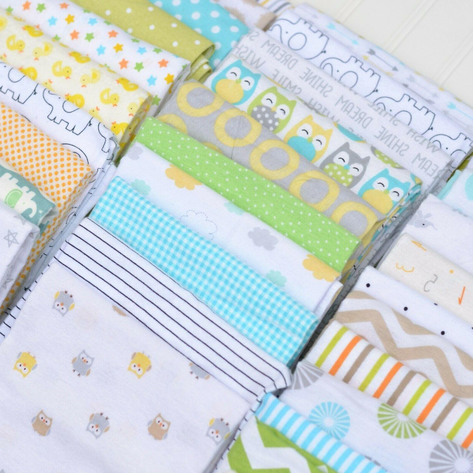NEW Assorted Gender Neutral Baby Receiving Blanket Lot