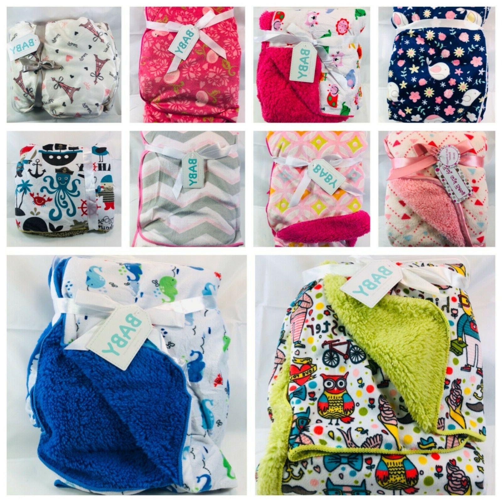 new baby girls boys blankets super soft