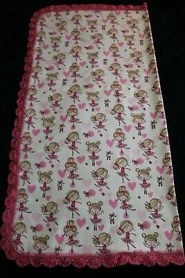 New Gift Receiving Blanket Girl Crochet PINK