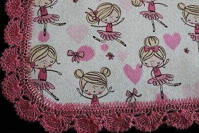 New Baby Shower Receiving Girl Crochet BALLERINAS PINK