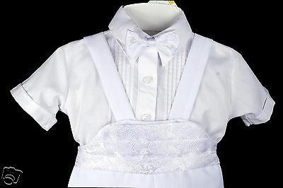 New Born Baby Boy Infant Christening Formal Tuxedo Suit