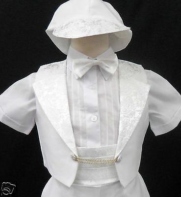 New Infant Baptism Formal Tuxedo White