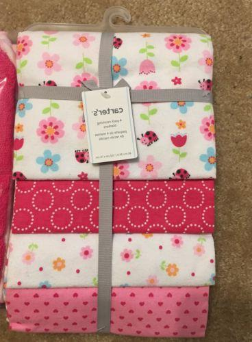 NEW! Carter's 4-Pack Receiving Blankets Baby Girl