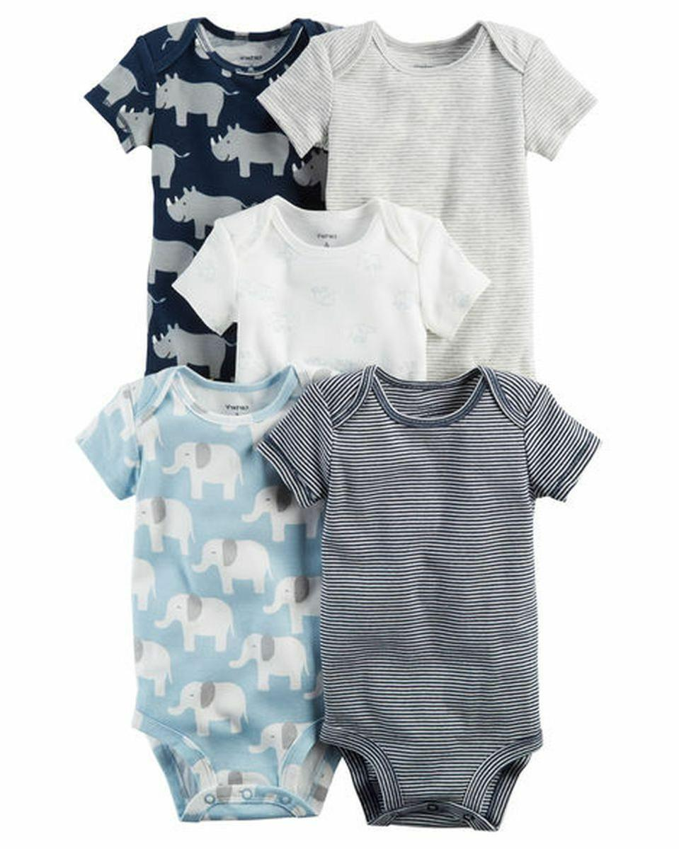 new carter s 5 pack bodysuits boys