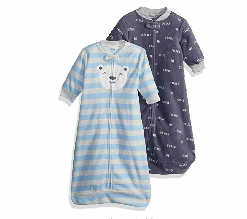 NEW Carter's Baby Boys TWO 2-Pack Microfleece Sleepbag Blue