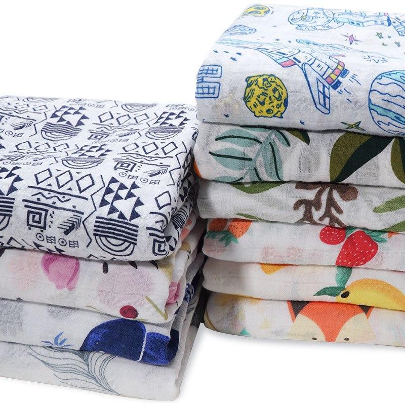 NEW Cotton Supersoft Diapers Bath Towel Swaddle <font><b>Baby</b></font> Bed <font><b>Blankets</b></font> Newborn
