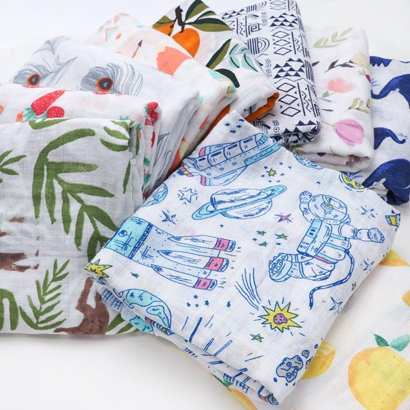 NEW Cotton Supersoft Muslin Diapers <font><b>Receiving</b></font> Bath Towel <font><b>Baby</b></font> Bed <font><b>Blankets</b></font> Newborn