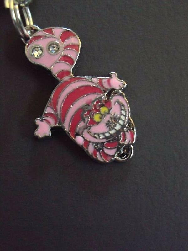 New Disney Alice Cheshire Cat Charm Zipper Clip
