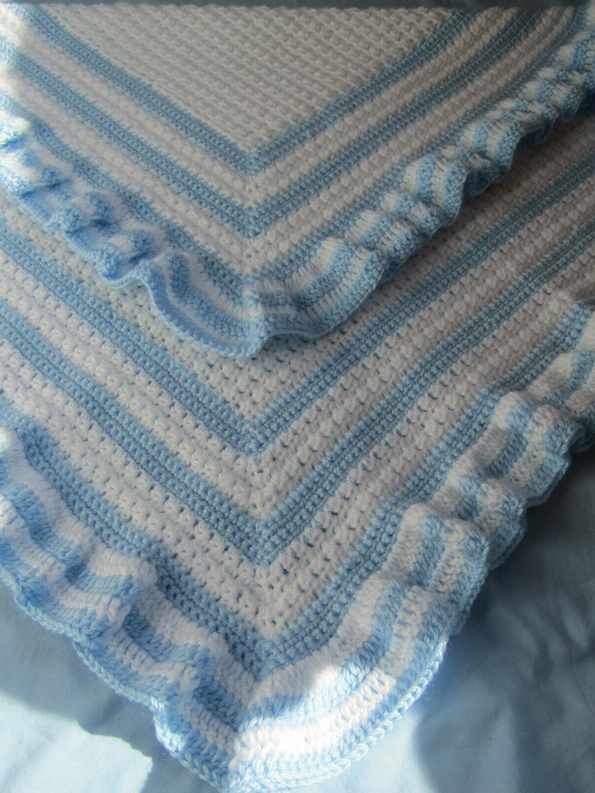 New Handmade Blanket ~ White with Ruffles!