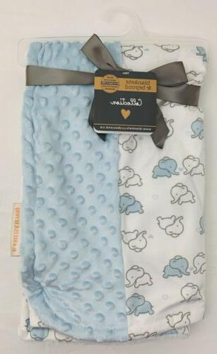 NEW/NWT-Blankets and & Beyond Baby Blanket/Pink & Gray Eleph