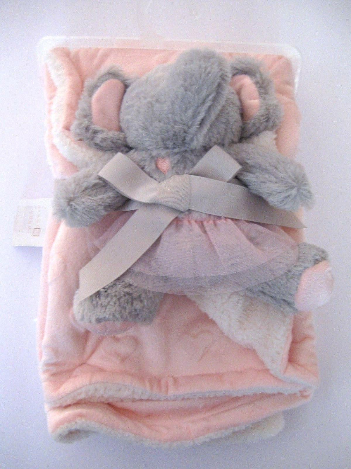 Modern Blanket Elephant Toy Sherpa Reverse