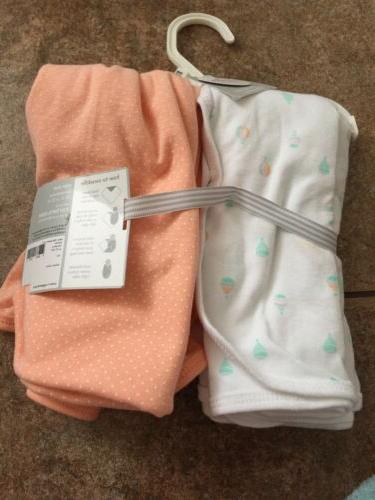 New With Tags Carter's Little Layette 2 Swaddle Blankets!