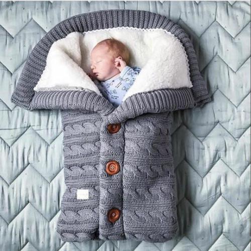 Newborn Blanket Crochet Sleeping Bag Stroller