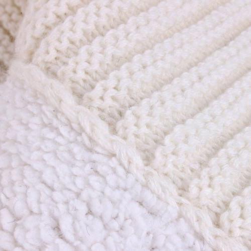 Newborn Baby Blanket Crochet Swaddle Stroller Wrap