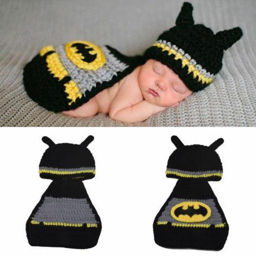 Newborn Baby Girls Boys Baby Crochet Knit Costume Photo Phot