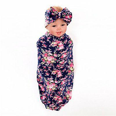 Hcside Newborn Baby Cotton Swaddle Blanket Bedding Covers Fl