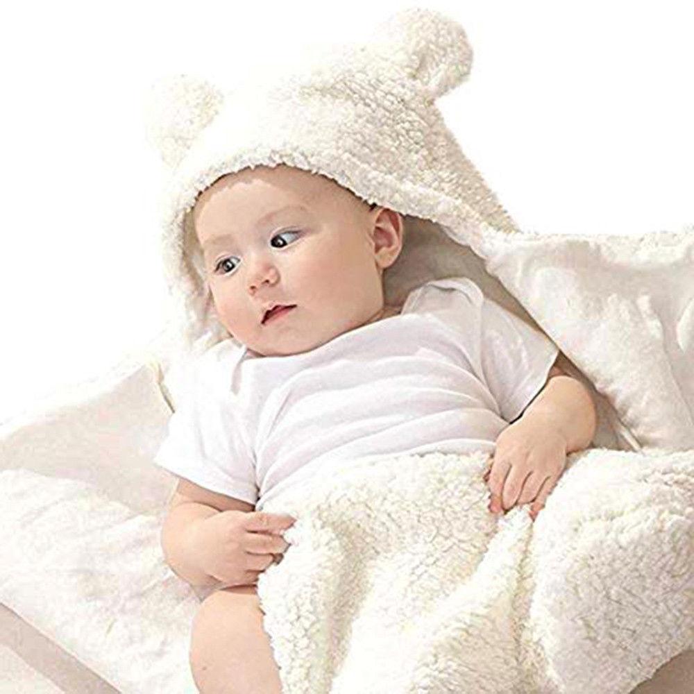Newborn Cotton Receiving White Sleeping Boy