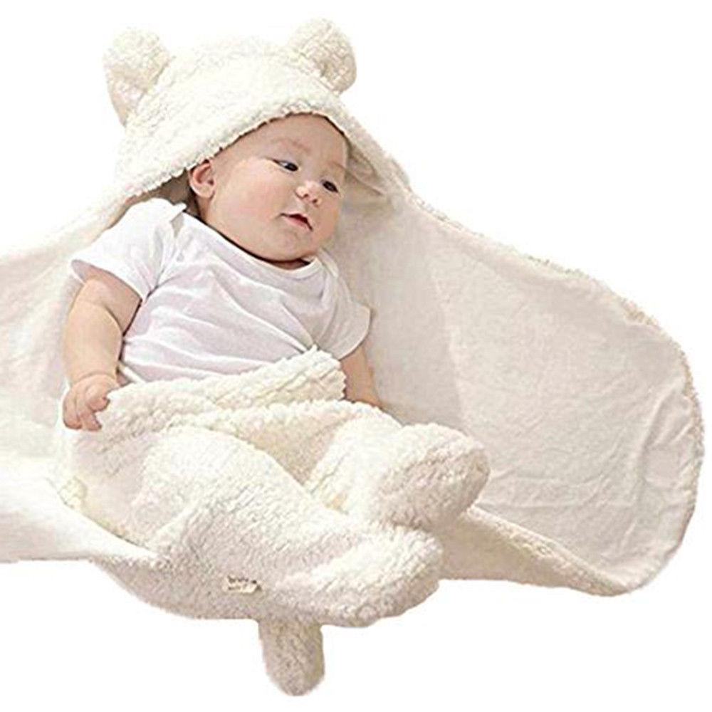 Newborn Cute Cotton Receiving Blanket Boy Girl