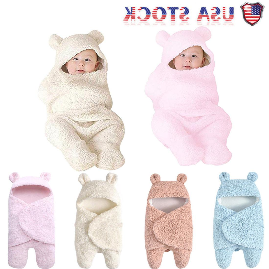 newborn baby cute cotton receiving white sleeping