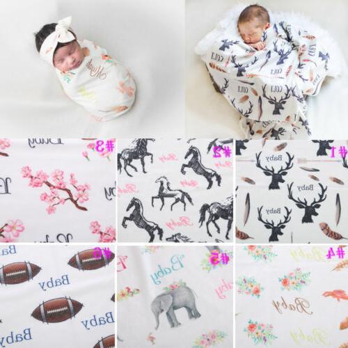Newborn Boy Swaddle Blanket Sleeping Muslin Wrap