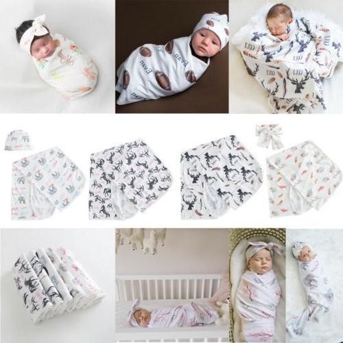 Newborn Baby Wrap Bag Blanket Headband