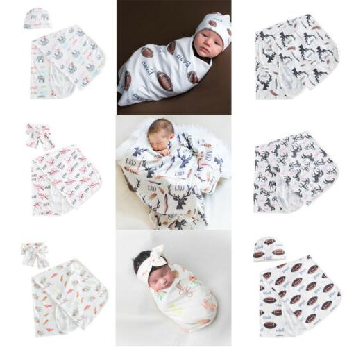 Newborn Wrap Bag Blanket Headband