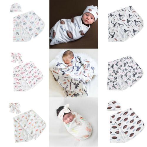 Newborn Baby Swaddle Muslin Hat Lovely