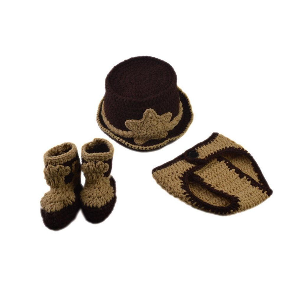 Newborn Baby Girl Crochet Knit Photography Prop Hats