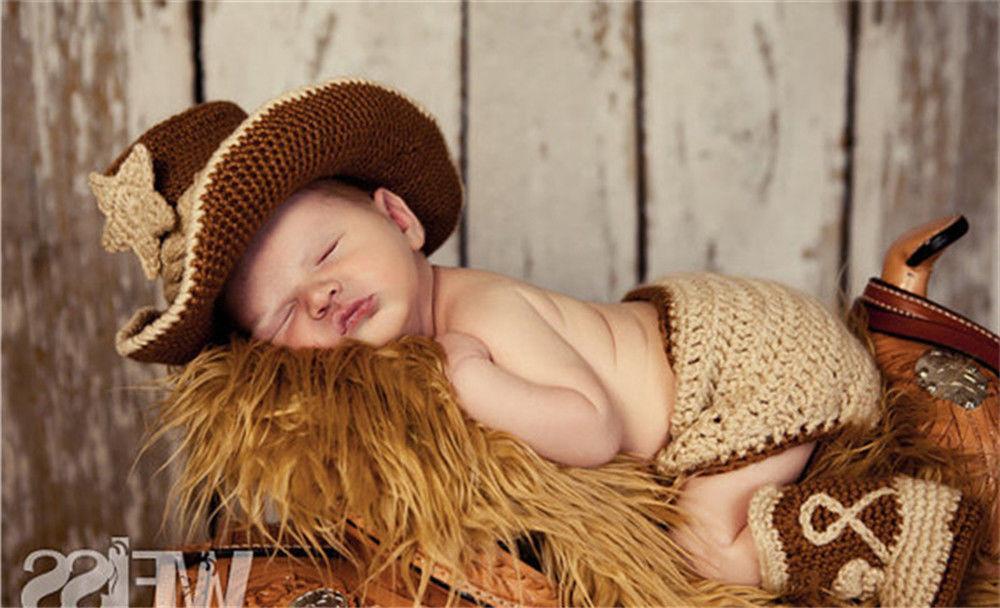 Newborn Baby Crochet Knit Costume Photography Prop
