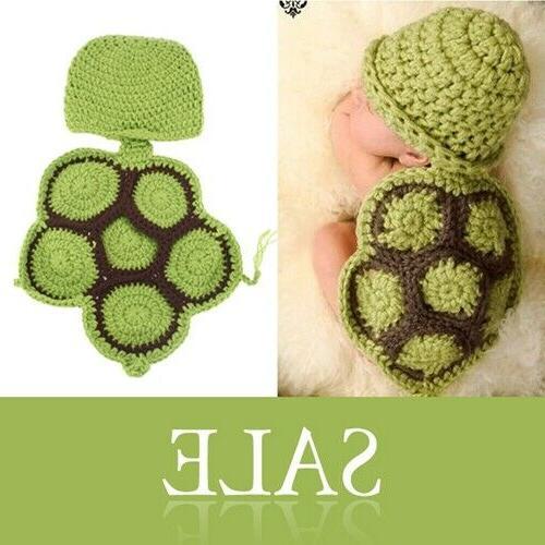 Newborn Baby Girls Boys Crochet Turtle Mermaid Costume Photo
