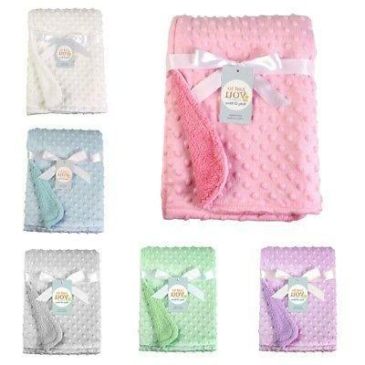 UK Newborn Baby Plush Blanket Infant for Toddler Girl Boy Pr