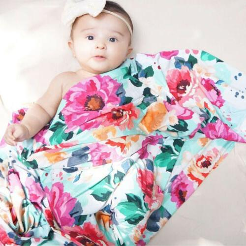 Swaddle Wrap Blanket Cotton Sleeping Bag+Headband