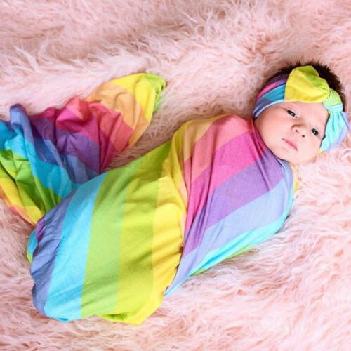 Newborn Girl Floral Swaddle Cotton Sleeping
