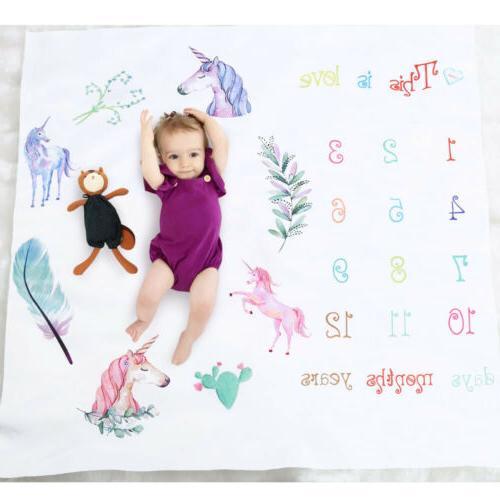 Newborn Baby Blanket Milestone Props