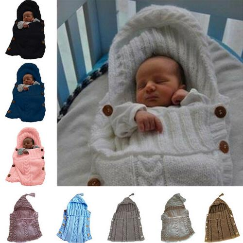 Newborn Baby Knit Swaddle Wrap Swaddling Sleeping