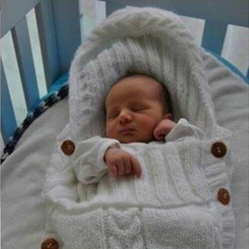 Newborn Baby Knit Blanket Swaddle Swaddling