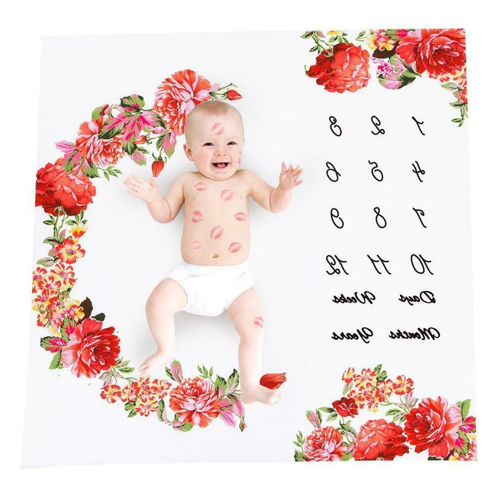 Infant Milestone Blanket Photography Prop Background Cloth