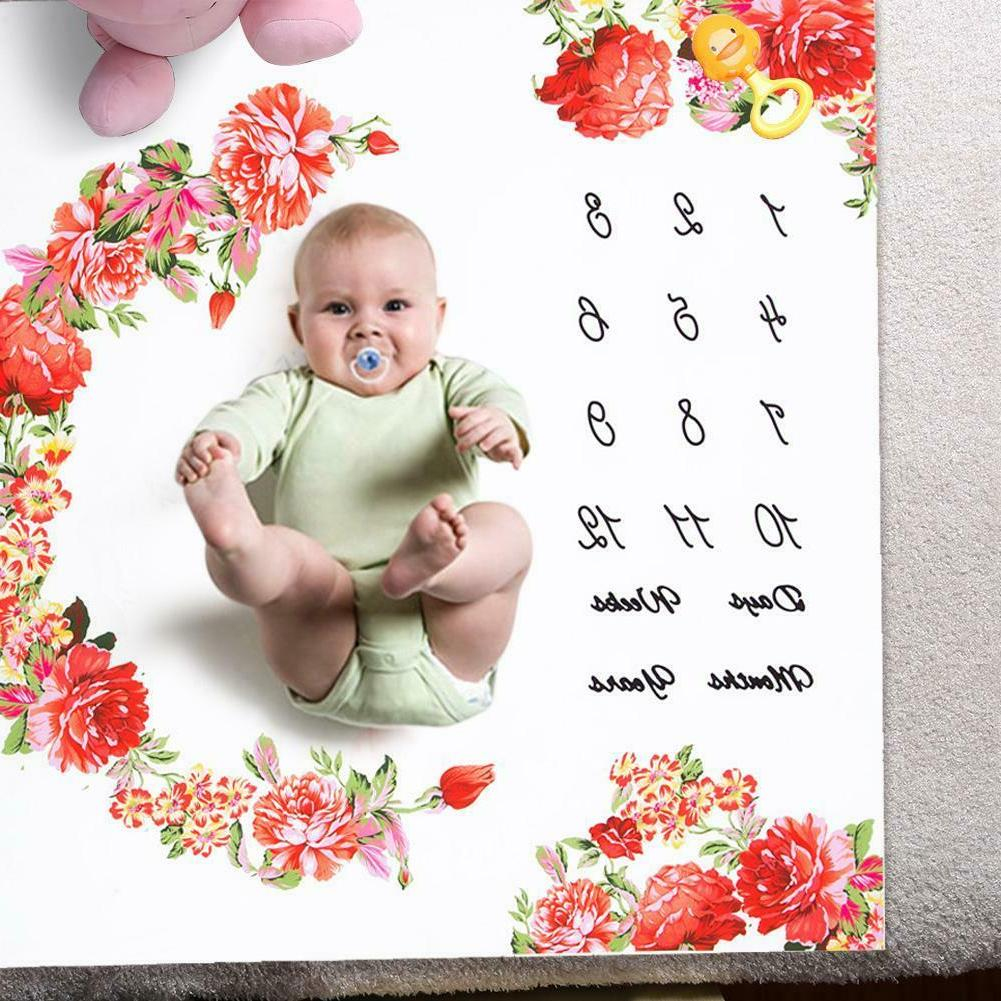 Infant Baby Growth Milestone Blanket Background Cloth