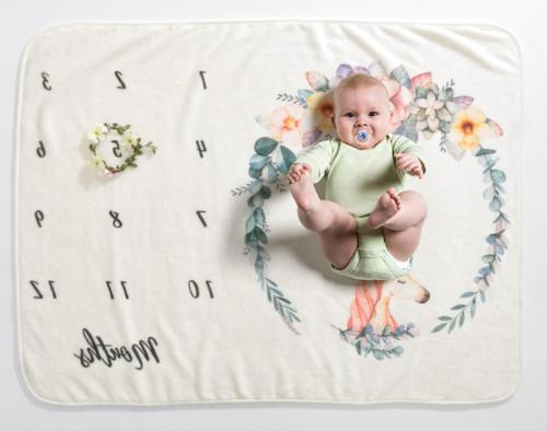 Newborn Baby Milestone Blanket Photography