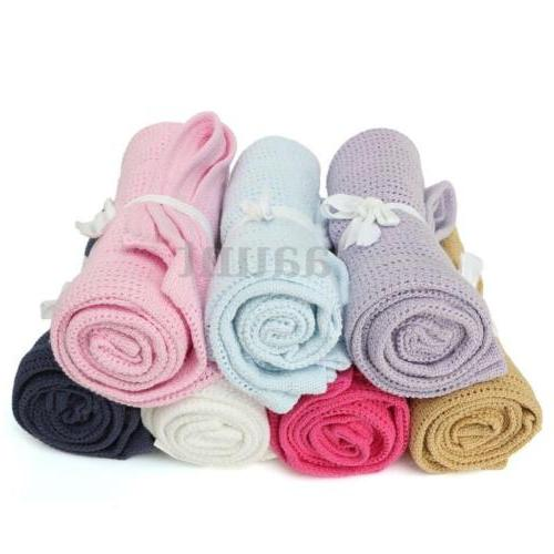 newborn baby soft nursery cotton banklet receiving