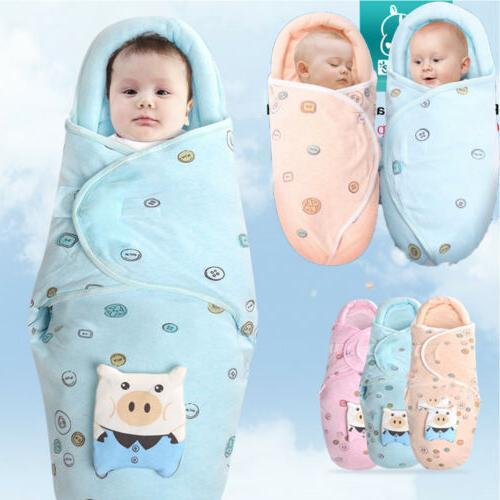 Newborn Baby Toddler Swaddle Wrap Blanket Sleeping Bag Sleep