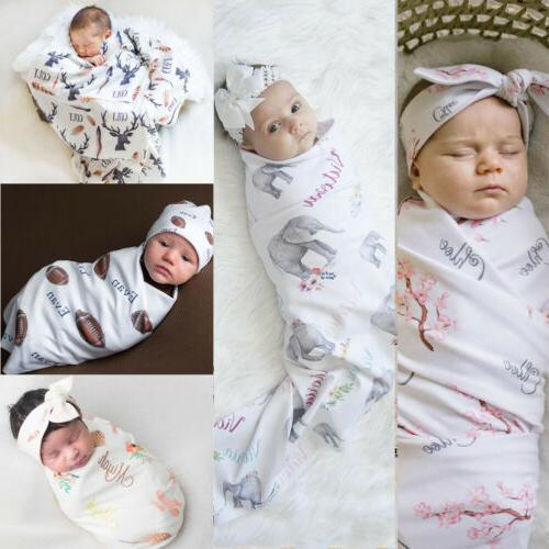 newborn blanket headband set baby kids boy