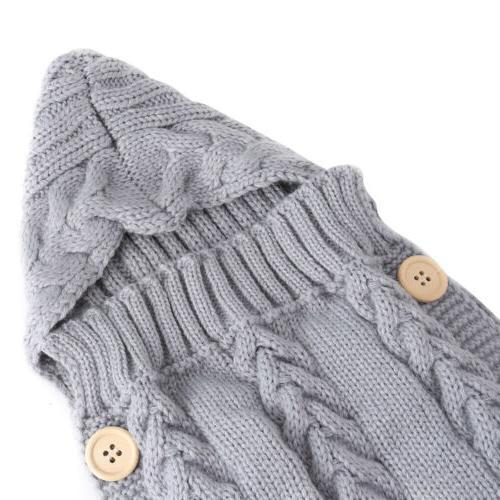 Newborn Infant Baby Boy Girl Blanket Knit Warm