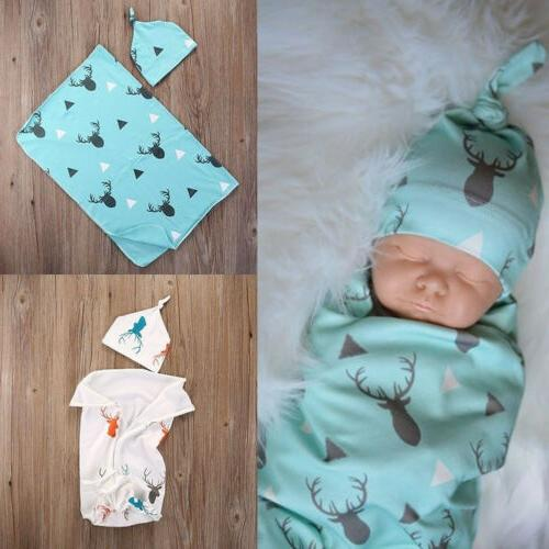 Newborn Infant Baby Boy Swaddle Cotton Blanket Boy Coming Ho