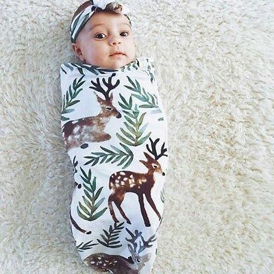 Infant Baby Swaddle Blanket Muslin Set