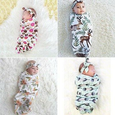 Newborn Infant Baby Kids Swaddle Cocoon Sleep Wrap Warm Blan