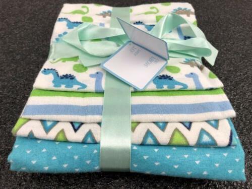Newborn Blankets 4-Packs 100% Cotton