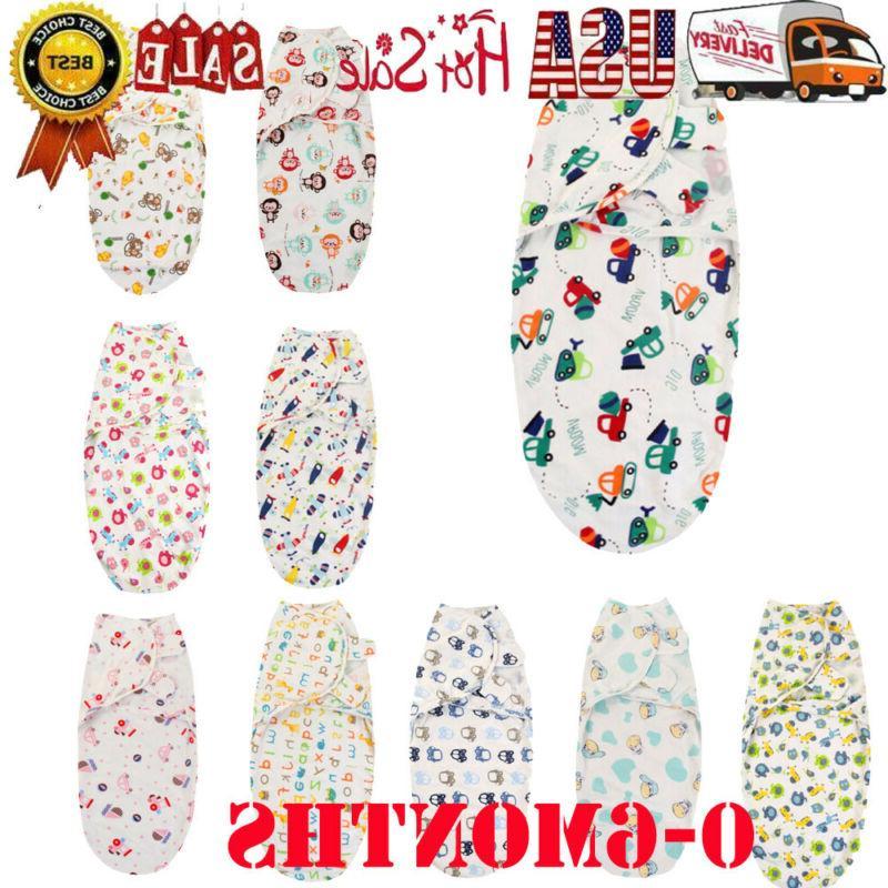 Newborn Infant Baby Toddler Swaddle Comfy Sleeping Blanket W
